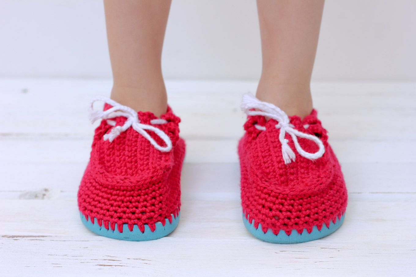 ab0ec85cd2a6 Turn cheap flip flops into crochet toddler slippers with this free pattern.  The boat shoe style works well for girls and boys. Quick and portable  project!