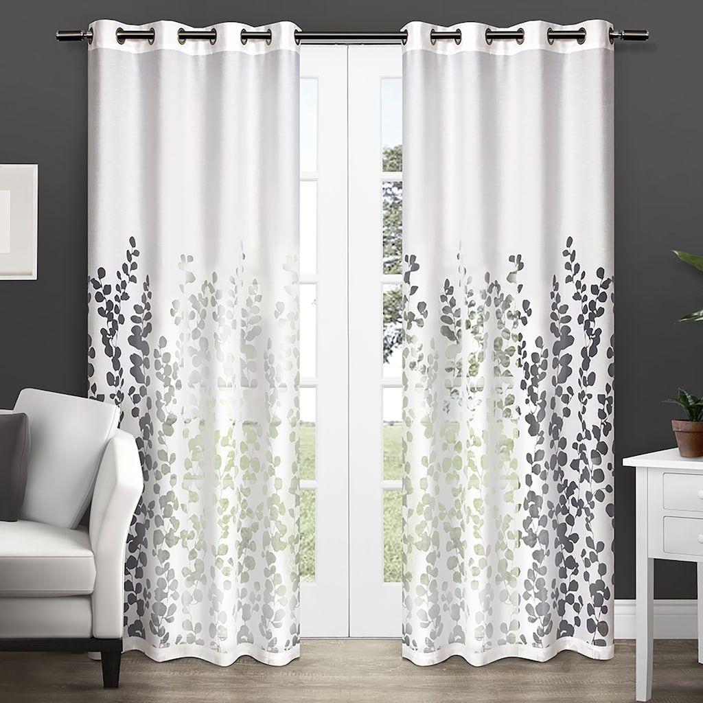 Exclusive home pack wilshire burnout sheer window curtain uu x
