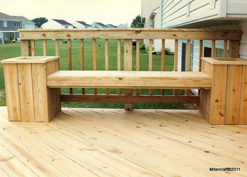 Deck Planter Benches Bench Combo In Pressure