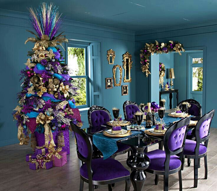 Purple Christmas Trees Pinterest Purple stuff and Christmas tree