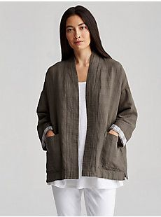 Measures 28 inches on the body (size small).   Model featured is 5'10