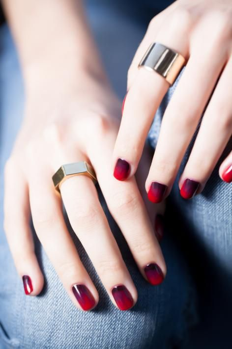 Cherry Bomb Ombre Fall Nail Designs Nail Color Trends Beautiful Nail Art