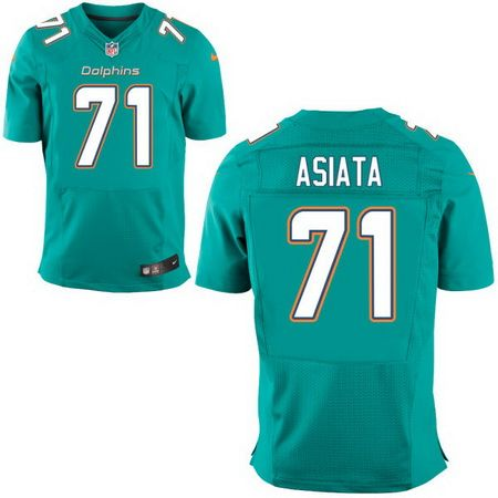 e289e3b60 Men s 2017 NFL Draft Miami Dolphins  71 Isaac Asiata Green Team Color Stitched  NFL Nike Elite Jersey