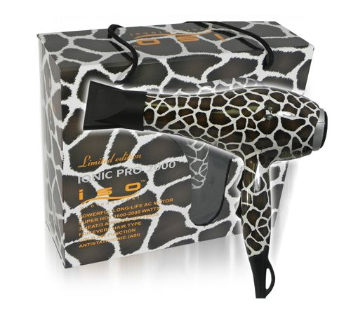 5/15/2012  $34.99  + FREE SHIPPING ISO Ionic Pro 2000 Giraffe Print Blow Dryer w/ 6 Speed/Heat Settings & 2 Concentrators for Easy Styling