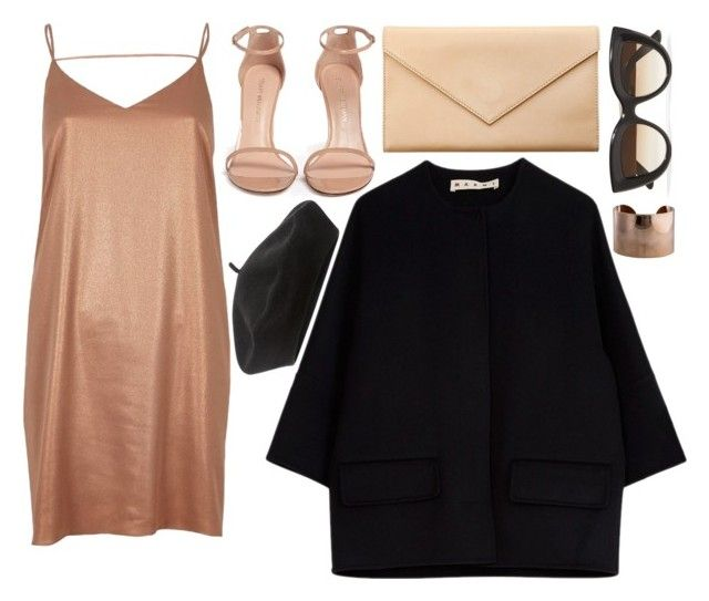 """""""."""" by sckscher ❤ liked on Polyvore featuring River Island, Marni, Stuart Weitzman, Carré Royal, E L L E R Y, Accessorize and Maison Margiela"""