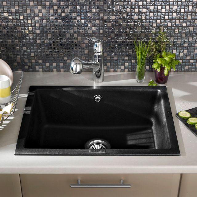 Evier Cuve En Granit A Encastrer Graphite Castorama Home Decor New Homes Sink