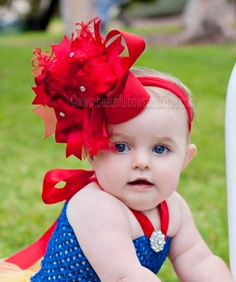 Baby bow headband Toddler bows Baby Headband Handmade baby Big Bows