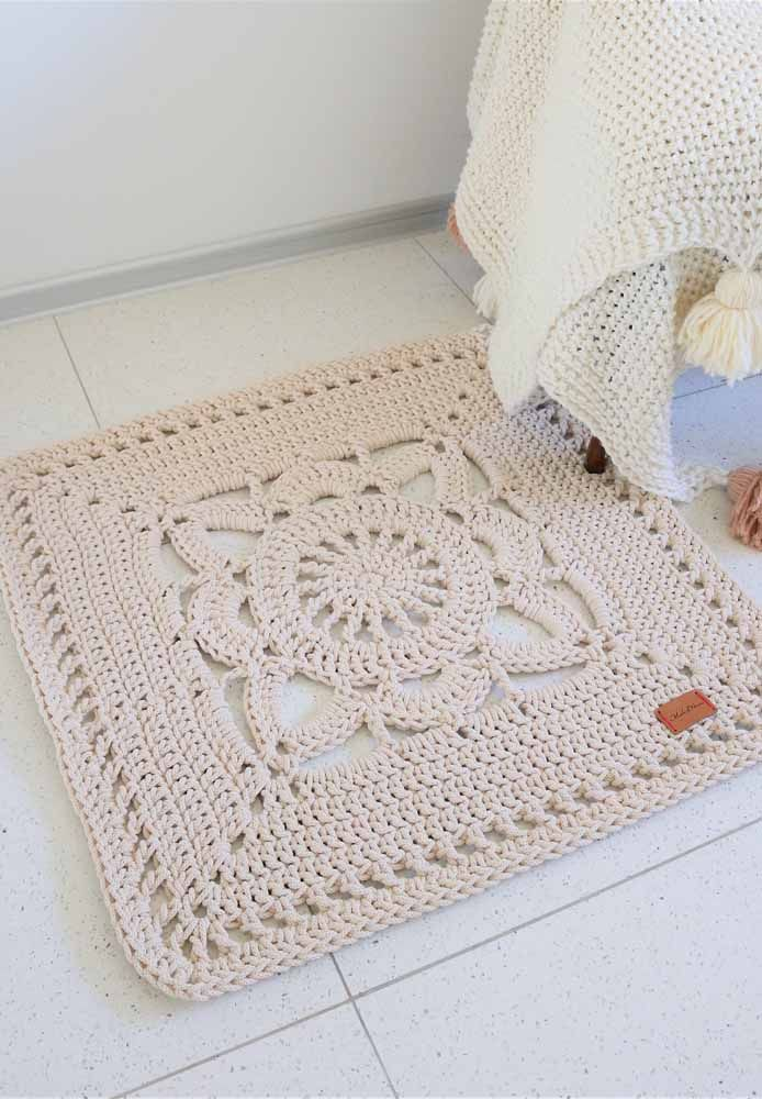 Você também pode combinar o tapete com a manta, de modo semelhante ...