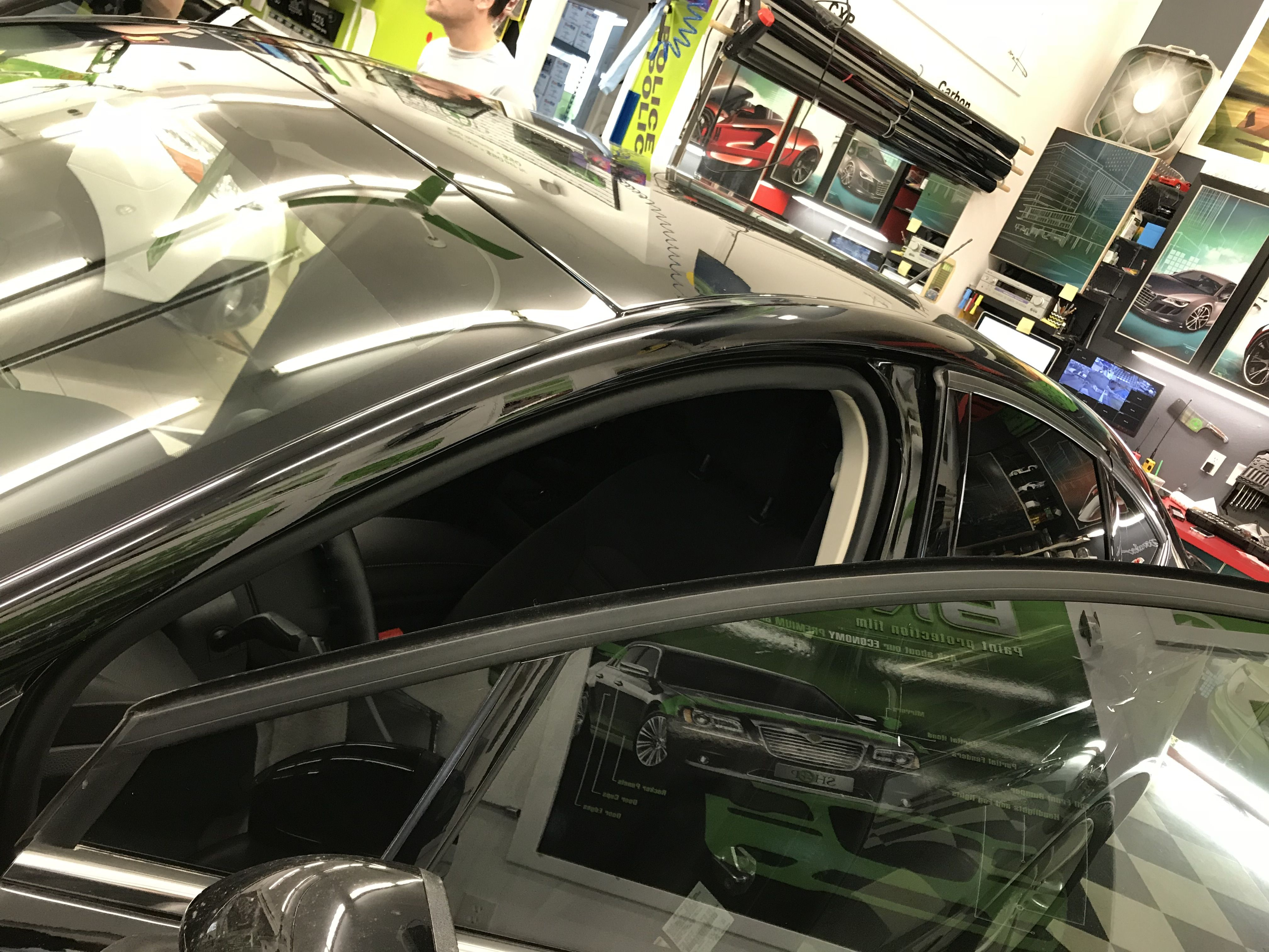This Ford Fusion Has Just Encountered The Power Of Window Tinting Nick Did Such A Great Job Looks F Tinted Windows Commercial Window Tinting Paint Protection