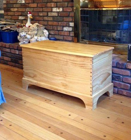 Simple Pine Blanket Chest Paint Blue Diy Wooden Projects Wooden