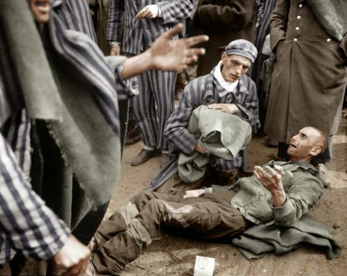 historicaltimes:   Concentration Camp Inmate Breaks Out in Tears in Wöbbelin,4th of May 1945. via reddit Read More