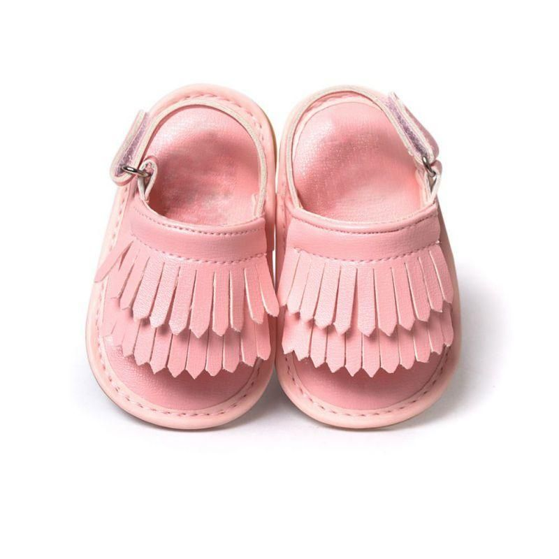 Toddler Girl Newborn Beach Sandals Summer Leather Moccasin Shoes Prewalker 2018