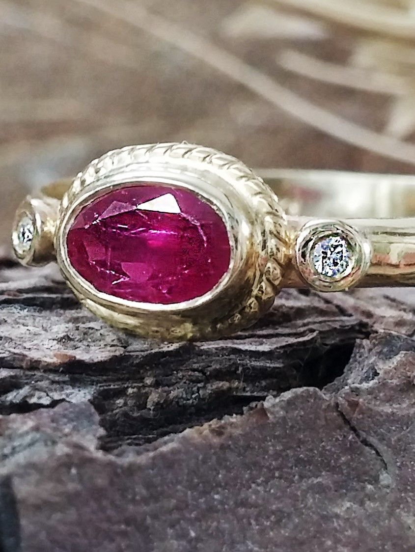 Ruby ring ruby engagement ring antique ruby ring july birthstone