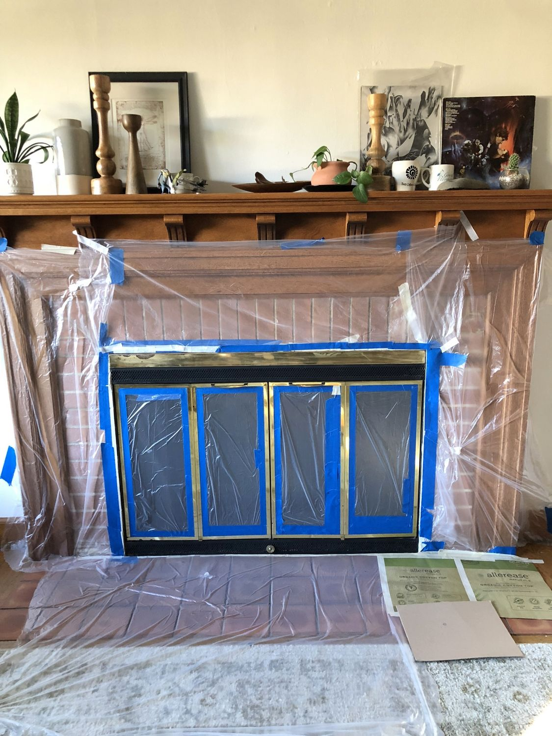 How To Paint A Brass Fireplace Screen Without Removing It In