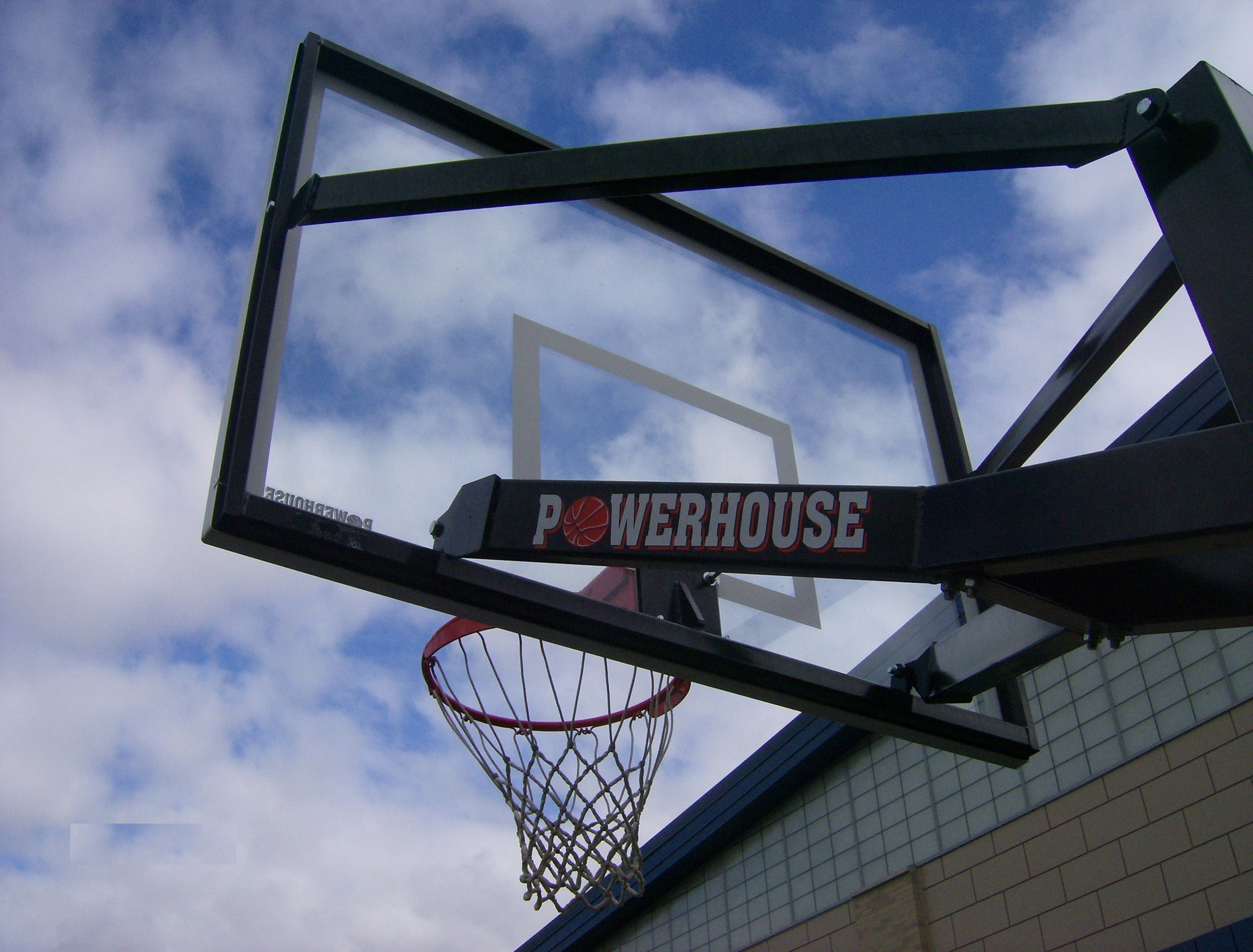 first team s powerhouse 560 adjustable basketball goal has a 42 tall