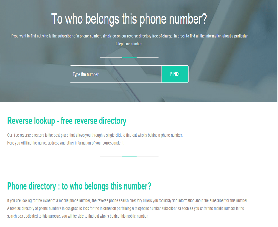reverse phone numbercouk web space is specialized in the research