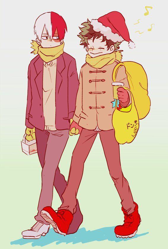 Boku No Hero Academia Todoroki Shouto Midoriya Izuku Merry Christmas Hero My Hero Academia Manga My Hero Academia