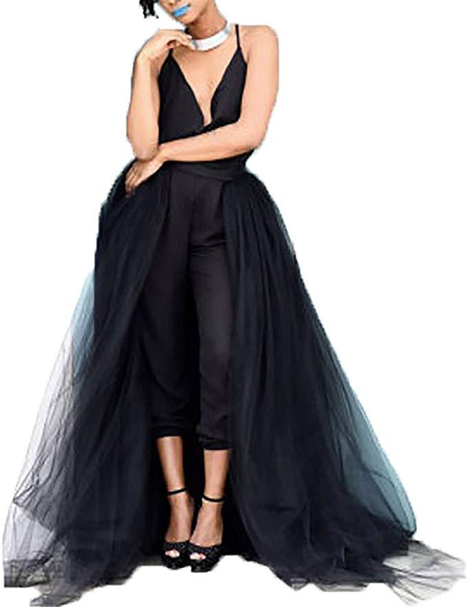 Women Wedding Maxi Tulle Skirts Detachable
