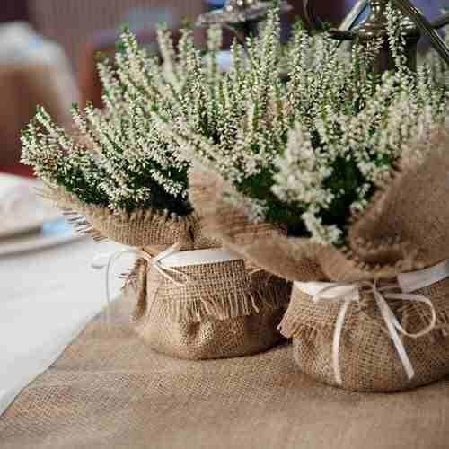 detalles para decorar boda campestre detalles para las mesas de invitados sencillos y con