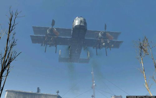 Minuteman Air Force by Peter Kapitola.   More pictures here(Imaginary Fallout group on Facebook).  fallout 4 fallou fallout settlements fallout 4 settlements
