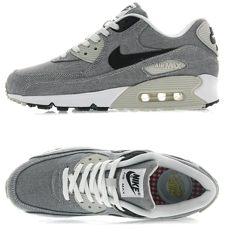 NIKE AIR MAX 90 PREMIUM CANVAS GREY BLACK SAIL 700155 100