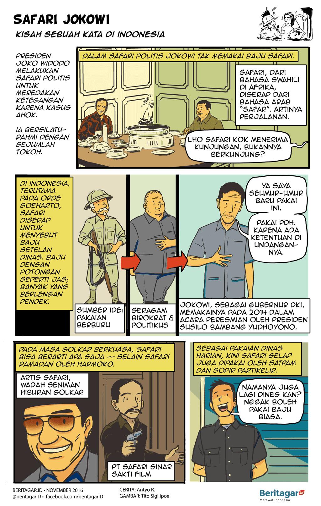Safari dalam politik negeri ini Safari, Kartun, Komik