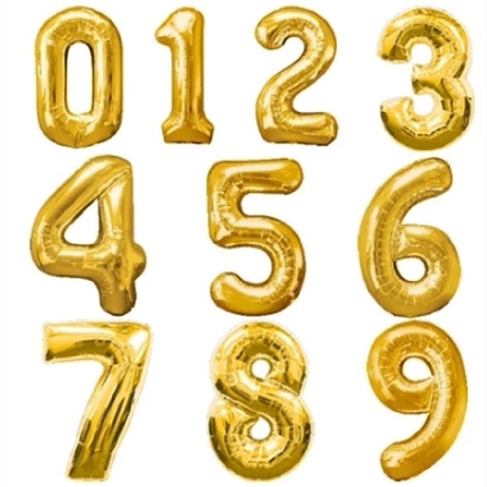 Balloon Alphabet Png Download Numeric Ballon Png Download Free Number Balloons Gold Number Balloons Foil Number Balloons