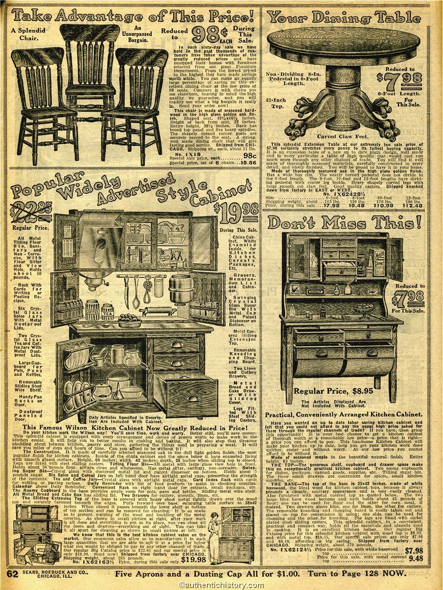 Sears Kitchen Furniture 1914 Sears Household Catalog Kitchen Furniture Early 20th