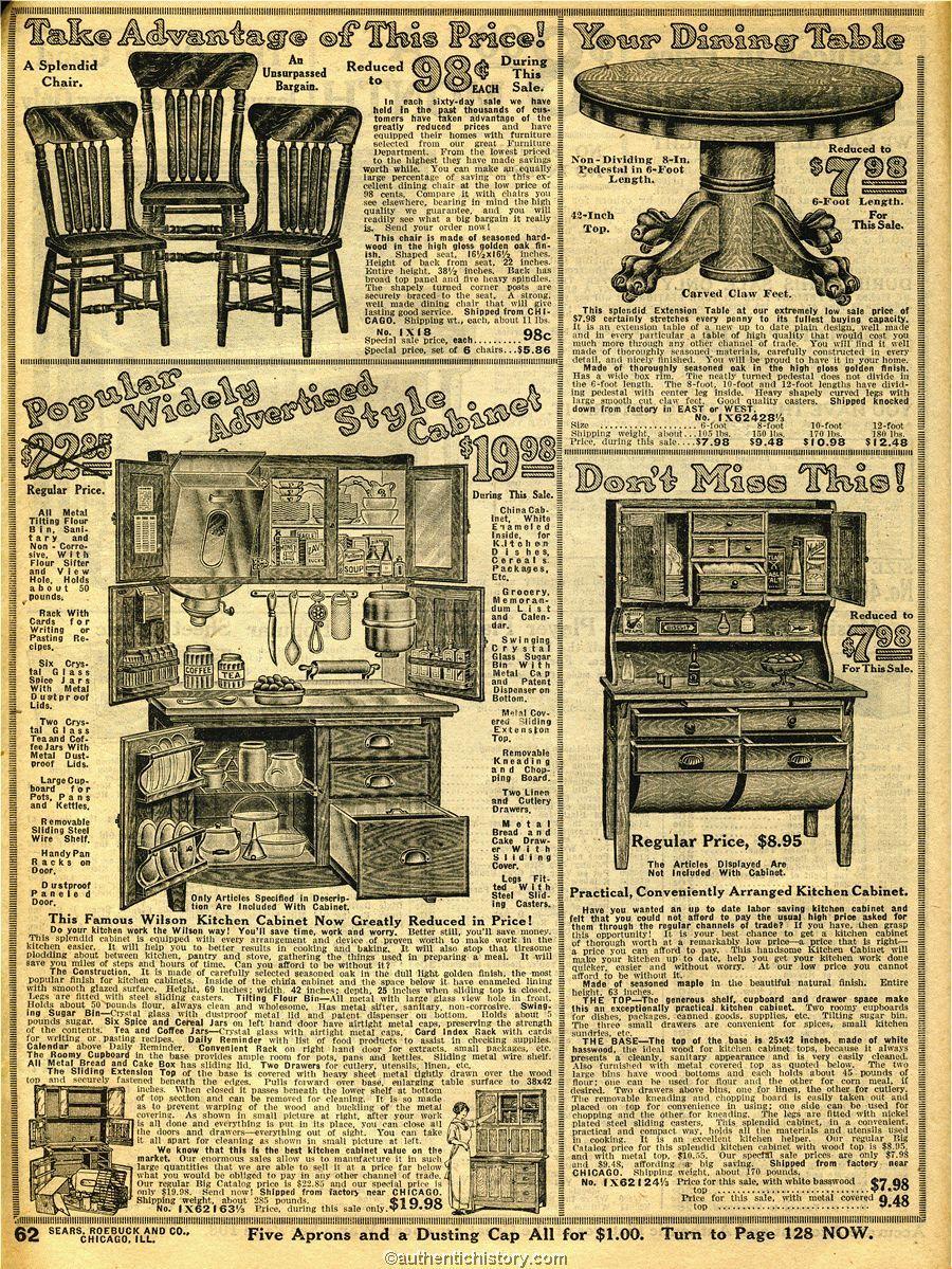 1914 Sears Household Catalog Kitchen Furniture Vintage House