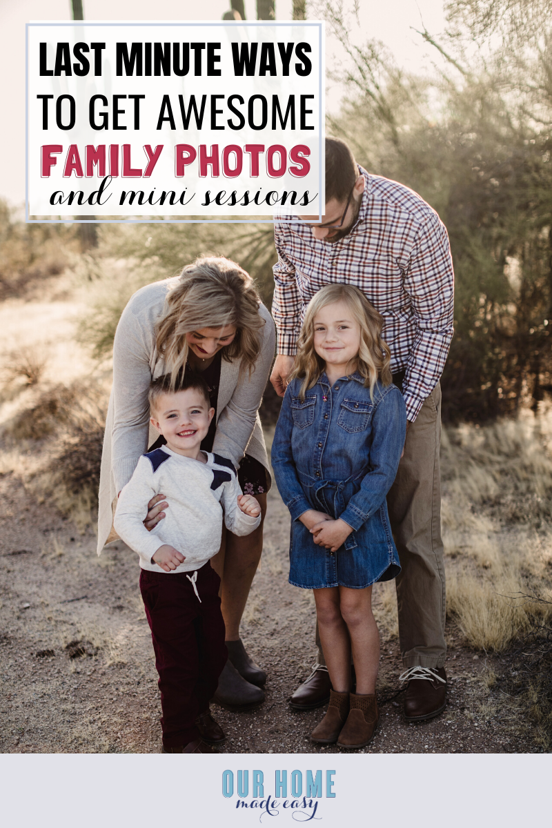 7 Last Minute Ways To Get Awesome Family Photo Outfits & Sessions #familyphotooutfits