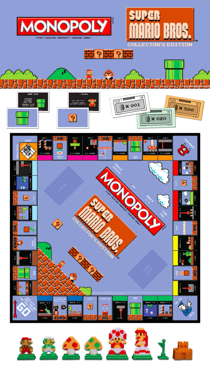 Feeling Nostalgic Relive A Video Game Classic In Monopoly Super Mario Bros Collector S Edition Super Mario Mario Bros Mario