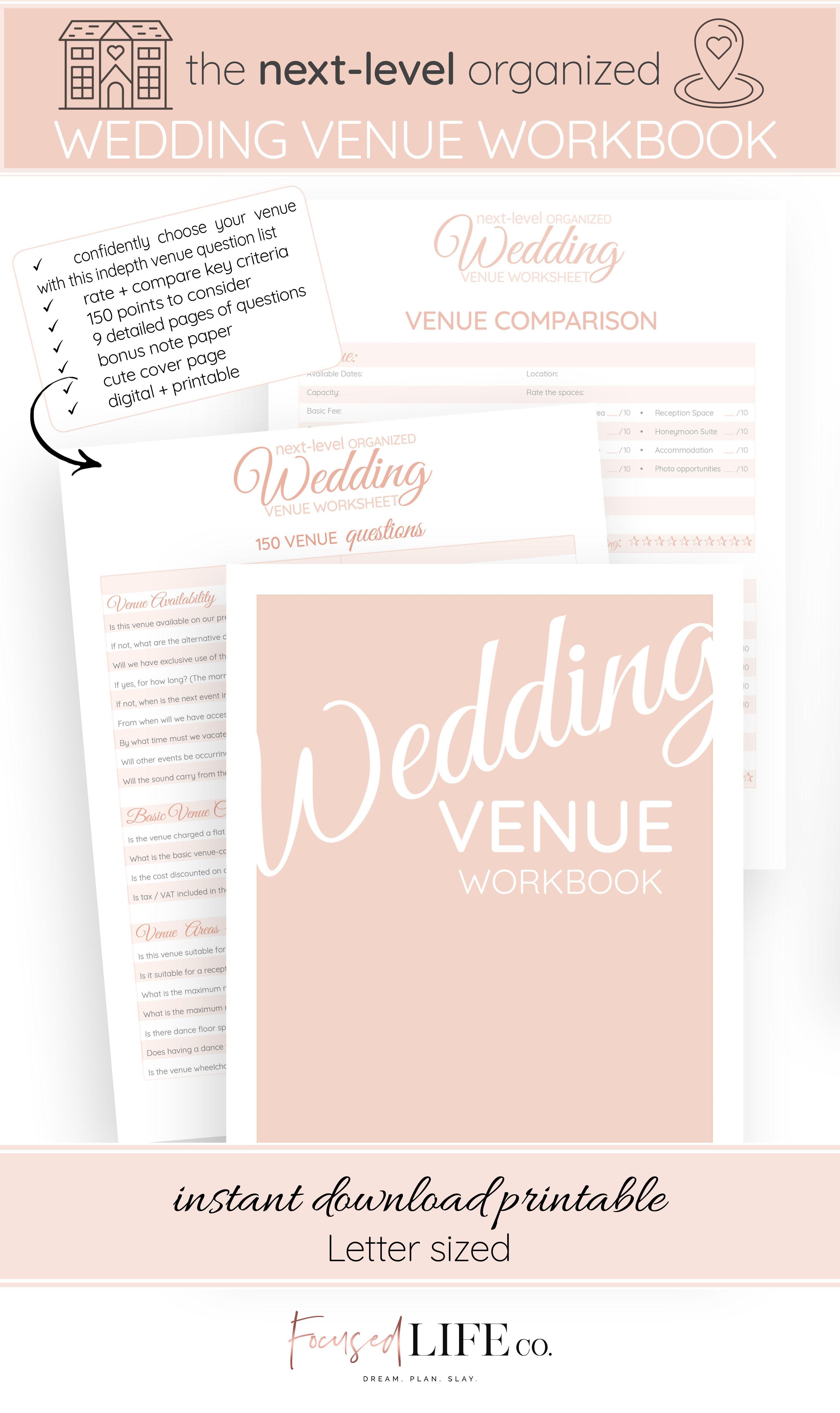 150 Question Wedding Venue Checklist Wedding Planning Series Part 5 In 2021 Wedding Venue Questions Wedding Venues Checklist This Or That Questions
