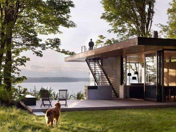 Modernes holzhaus am hang  modernes Haus im Wald-schöne-Lage | Contêineres | Pinterest ...