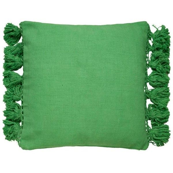 Tassel Yorkville Pillow In Picnic Green Design By Kate Spade 410 Sar Liked On Polyvore Featuring Home Home Decor Throw Pillo Throw Pillows Green Throw Pillows Pillows