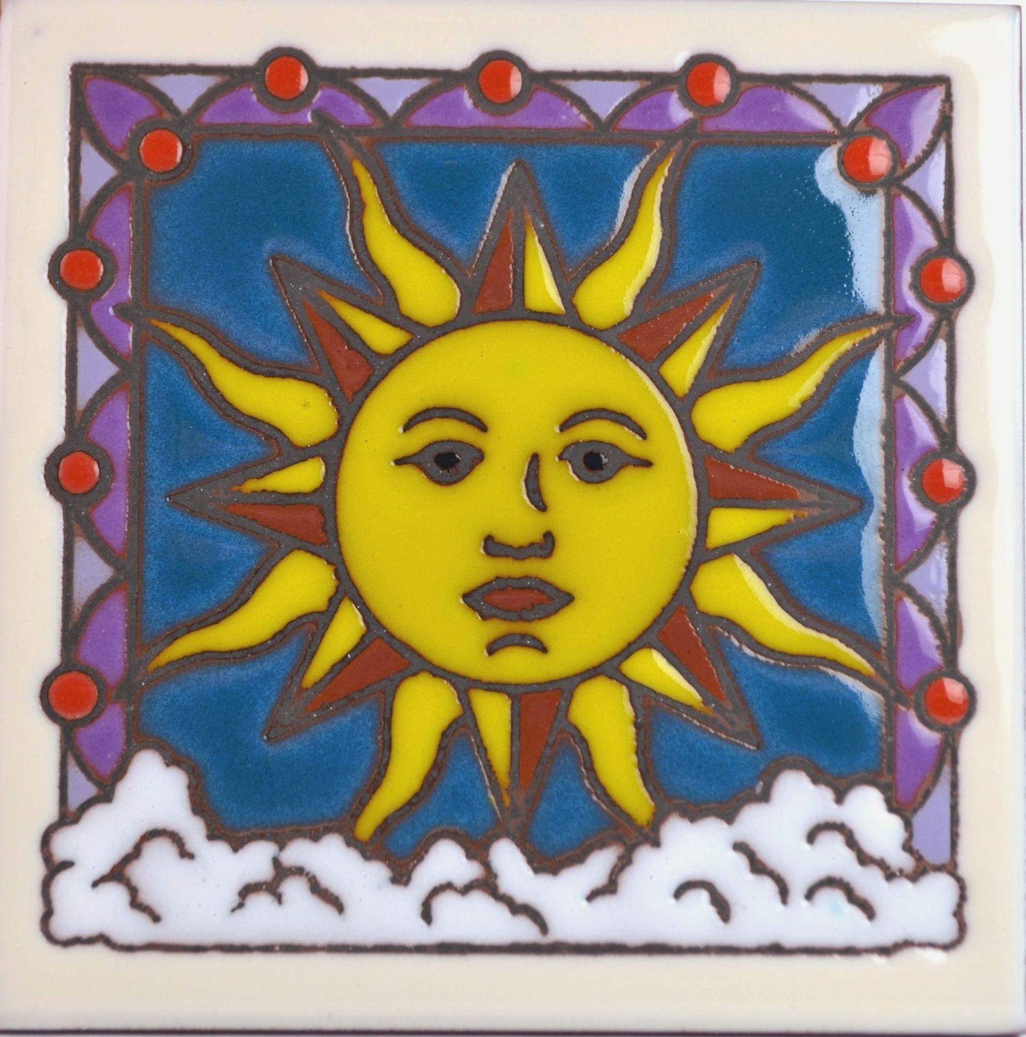 Masterworks Handcrafted Art Tiles - Celestial Sun | Art tiles and ...