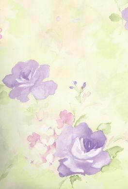 Lavender Floral Wallpaper Watercolor Floral Lavender Wallpaper