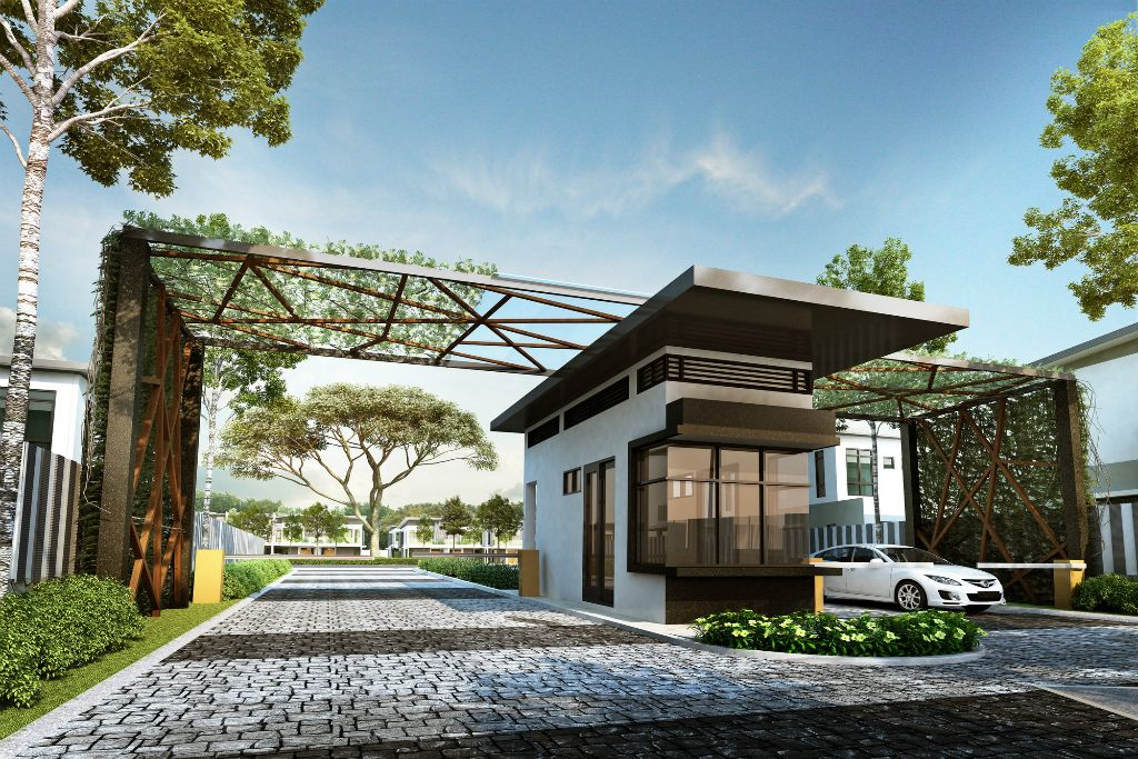 Entrance guardhouse final 1024 683 guarhouse for House gate design architecture
