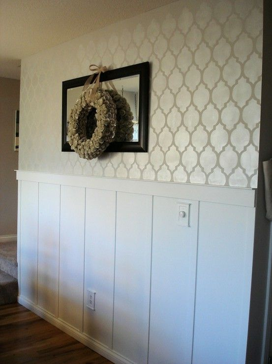 Wall stencil. Nice clean paint color for bathroom. | Home decor ...