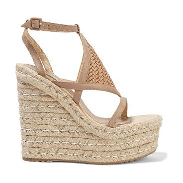 Elvira Woven Leather Wedge Sandals - by Paloma Barcelo