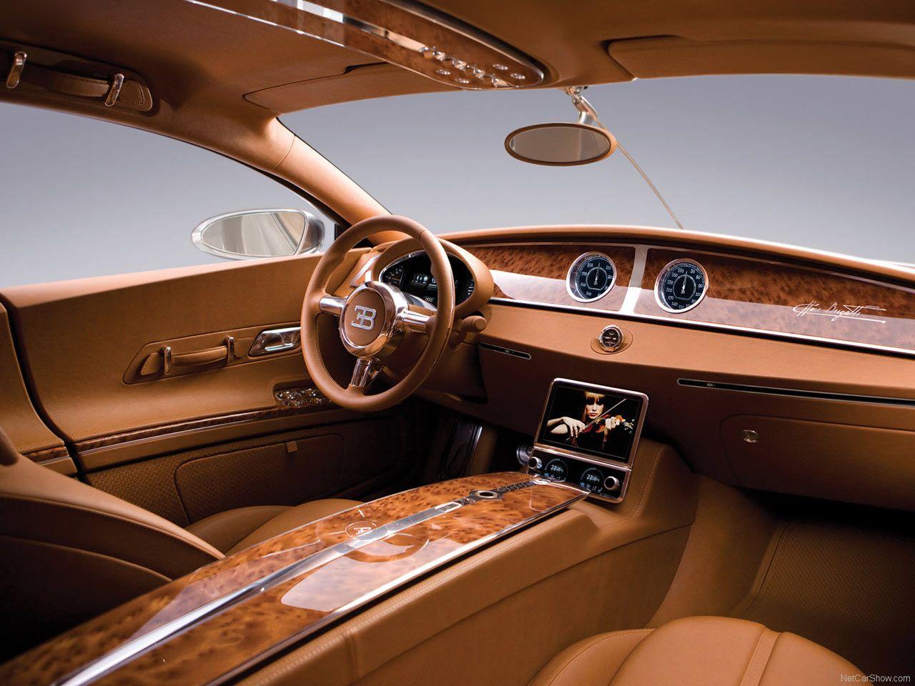 Car interior brown - Interior Of A New Bugatti