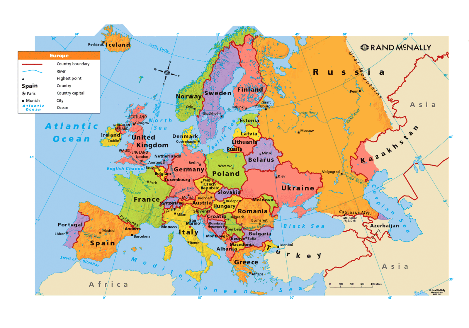 Large Map Of Europe Only