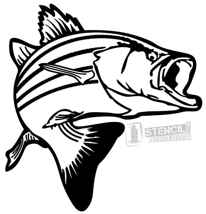 Trout Fish Stencil Fish Silhouette Fish Stencil Fish Clipart