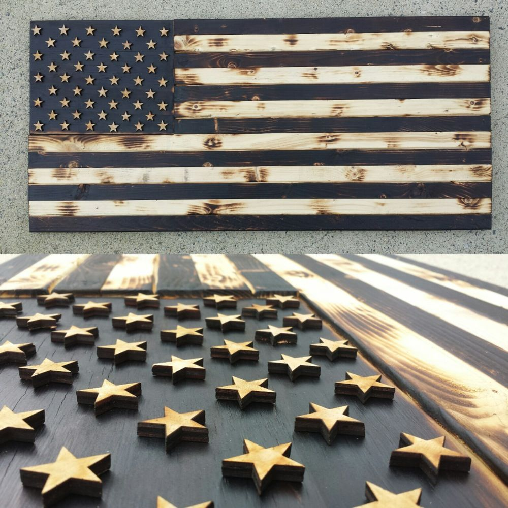 Black and white wood flag wood flag wood carved wood signs