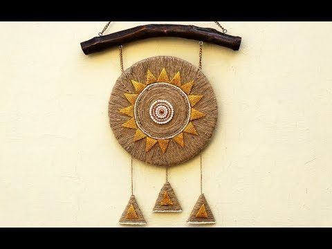 Diy wall decor using jute rope rope craft idea twine ideas room diy wall decor using jute rope rope craft idea twine ideas room decor stylenrich youtube diy decor pinterest rope crafts diy wall decor and solutioingenieria Images