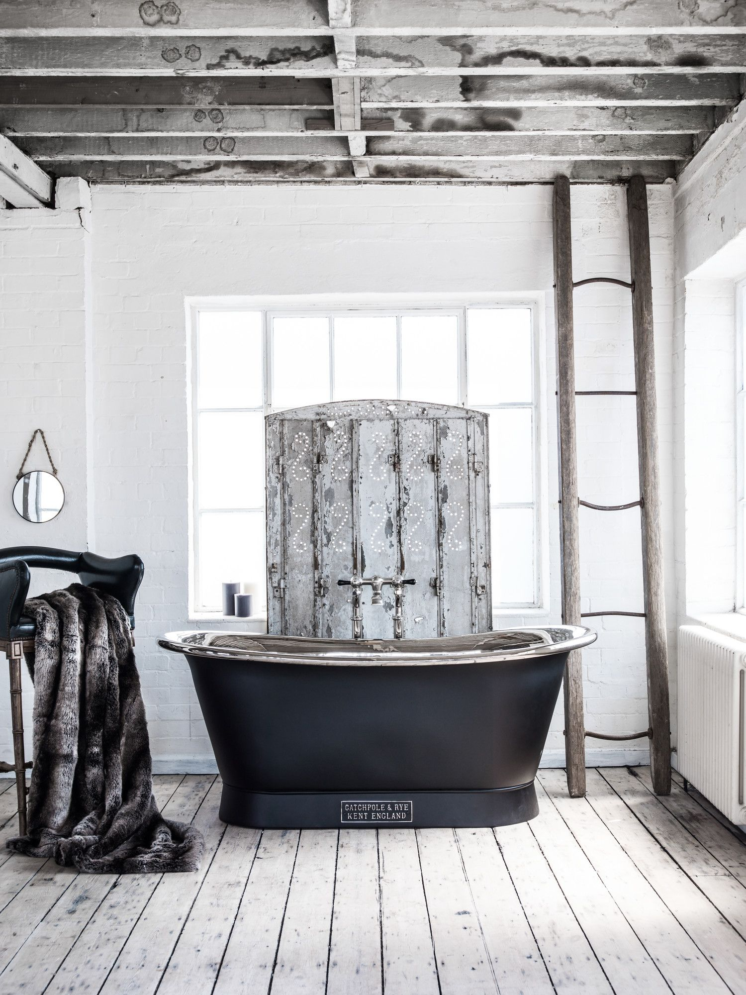 Luxurious bathroom accessories like faux furs are ideal for creating ...