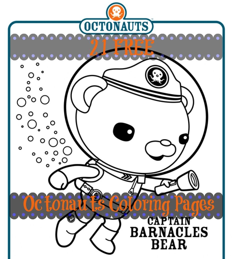 Color crew printables - Free 21 Disney Octonauts Coloring Pages For A Quick Summer Activity