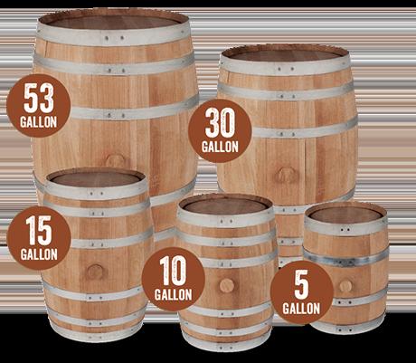 Small Premium Charred Oak Barrels American White Oak Barrels