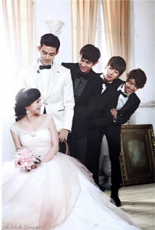 Lee jang woo and eunjung wedding dress