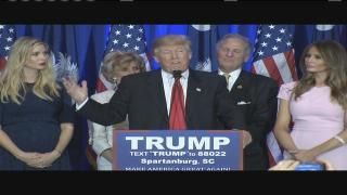 <p>COLUMBIA, SC (WIS) - South Carolina Republican primary voters haveselected New York billionaire and businessman Donald Trump as their choice to be the GOP nominee in the 2016 First in the Sou