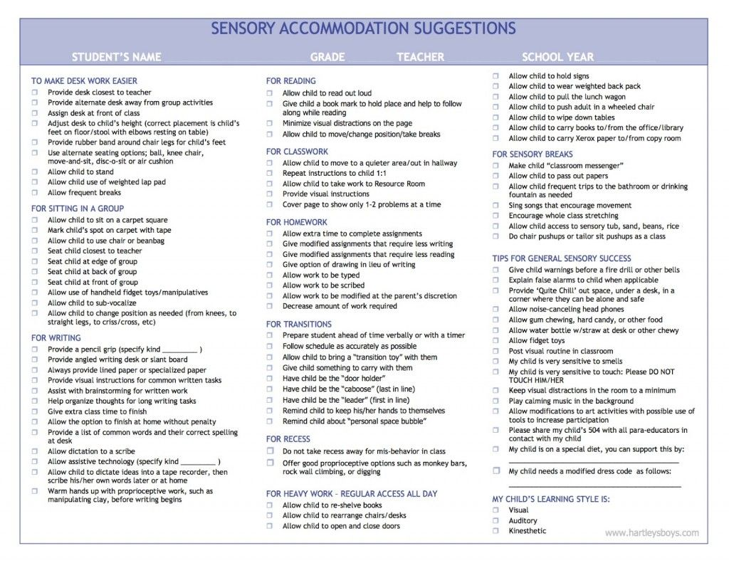 500 Reasonable Accommodations And Strategies For Your Iep 504